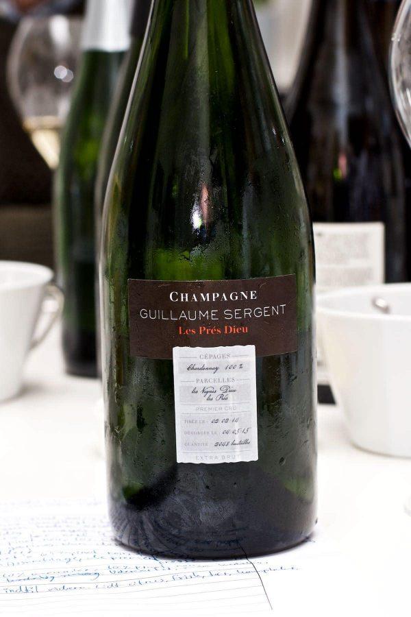 Champagnesmagning, Guillaume Sergent, Les Prés Dieu, Extra Brut