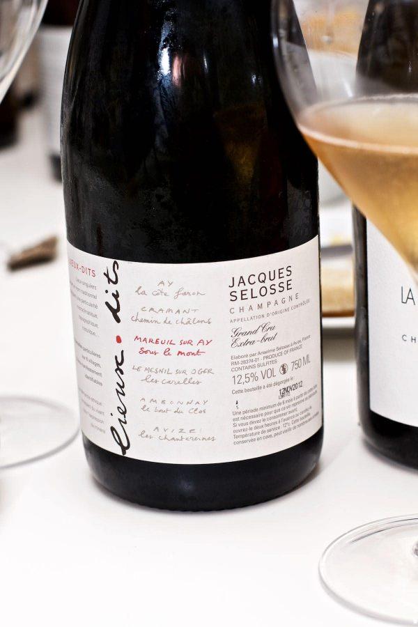Champagnesmagning, Jacques Selosse, Sous Le Mont, Extra Brut