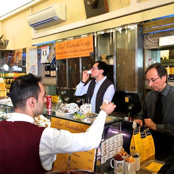 Ferie i Rom, Sant'Eustachio, Kaffe i Rom