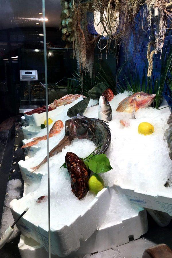 Ferie i Rom, Osteria Corte del Grillo, Frisk fisk