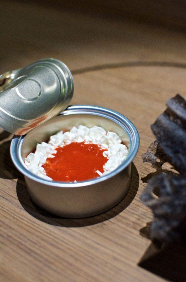 Restaurant Alchemist, Rasmus Munk, Makrel i tomat, Piment, Kongekrabbe