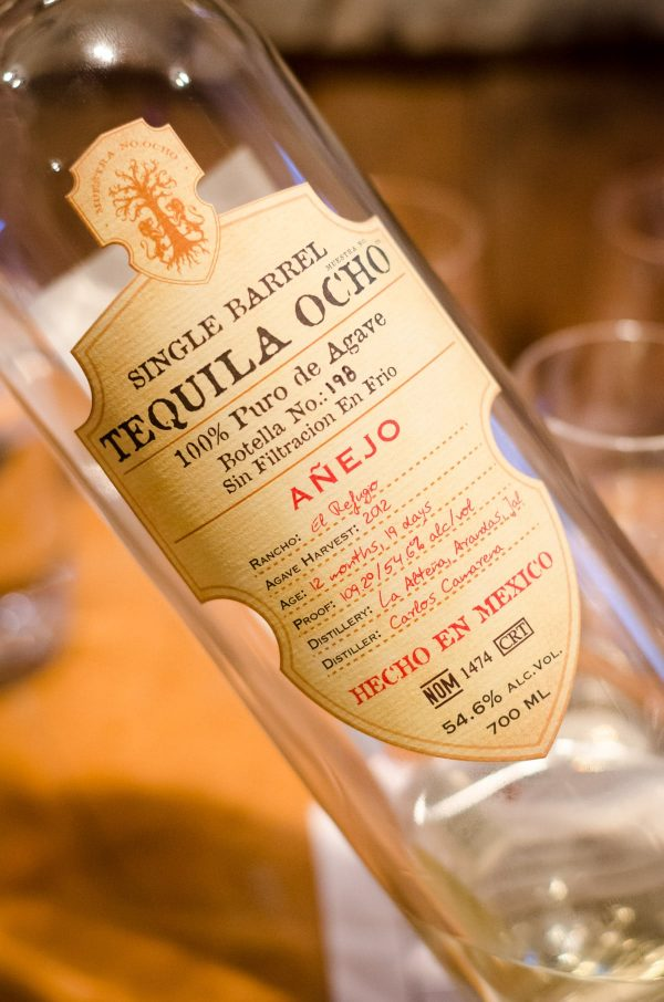Tequila Ocho Añejo, 100% Puro de Agave