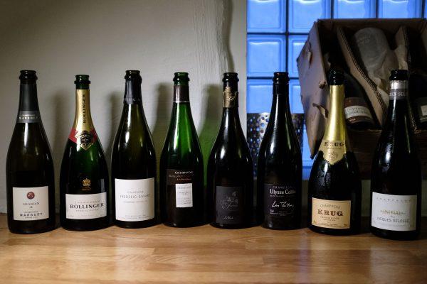 Aftenens line-up til champagnesmagning med ShareWine