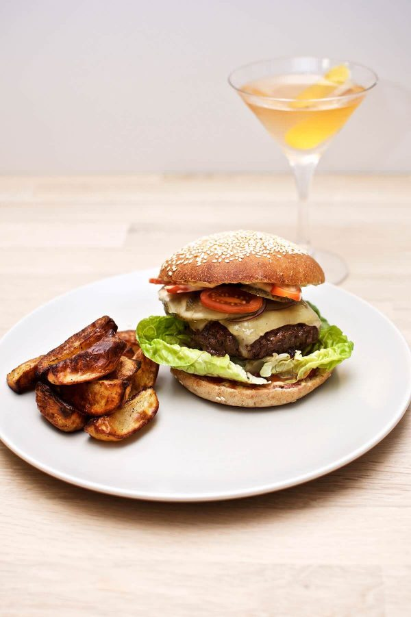 Opskrift på hjemmelavede burgerboller, Hjemmelavet burger