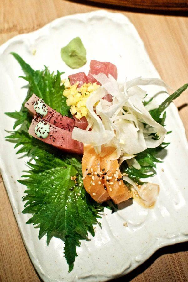 Goma Odense - sashimi, albacore, tun og laks