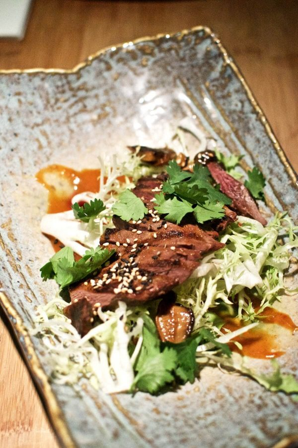 Goma Odense - gråand, svampe, yuzu, sesam, friseesalat, chilidressing og koriander