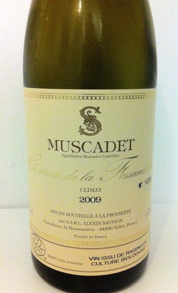 Vin til fransk løgsuppe, 2009 Muscadet Climat, Château de la Fessardière