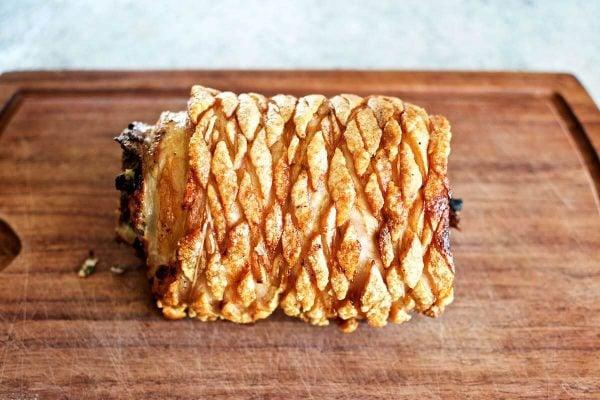 Opskrift, Porchetta i ovn - italiensk rullesteg med sprød svær